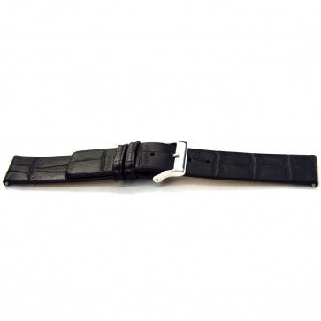 Buffalo kalf horlogebandje zwart 18mm