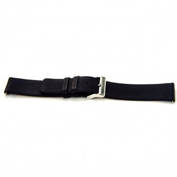 Buffalo kalf horlogeband zwart glad 24mm J-53