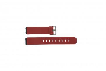 Jacob Jensen horlogeband 600 serie Leder Rood 17mm