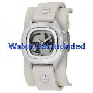 Horlogeband Fossil JR8224 Leder Beige 16mm