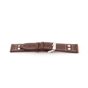 Horlogeband Universeel H365 Leder Bruin 22mm