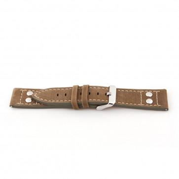 Horlogeband Universeel I820 Leder Bruin 24mm