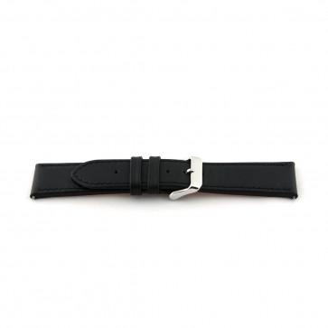 Zwart leder extra lange band 24mm I010
