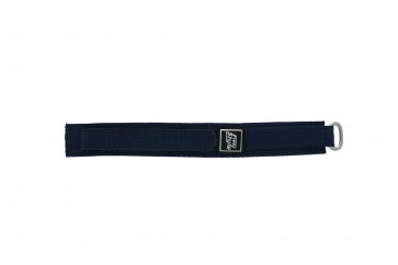 Horlogeband Universeel 5883-06-20 Klittenband Blauw 20mm