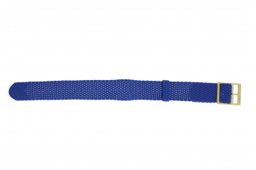 Horlogeband Universeel PRLN.18.LB Onderliggend Nylon/perlon Blauw 18mm
