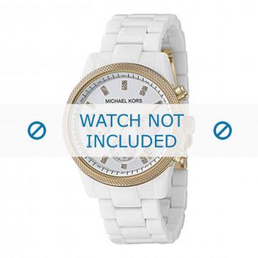 Michael Kors horlogeband MK5189 Keramiek Wit 20mm