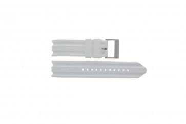 Horlogeband Nautica A14608G / A16603G Rubber Wit 22mm