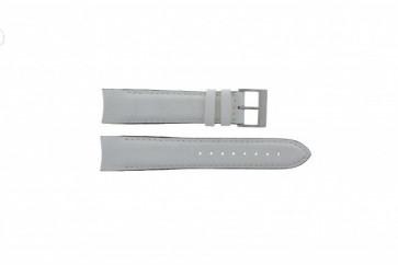 Nautica horlogeband A24514G Leder Wit 22mm