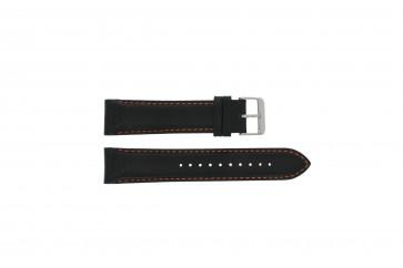 Horlogeband Pulsar VK63-X001 / PU2071X1 / PU2029X1 Leder Zwart 22mm