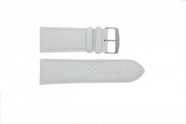 Horlogeband 306.09 Leder Wit 24mm + standaard stiksel