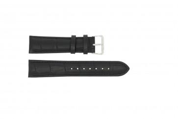 Horlogeband 805.01.18 Leder Zwart 18mm + zwart stiksel