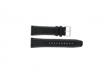 Horlogeband Seiko 7T62-0HL0 / SNAB55P1 / 4LR4JB Leder Zwart 24mm