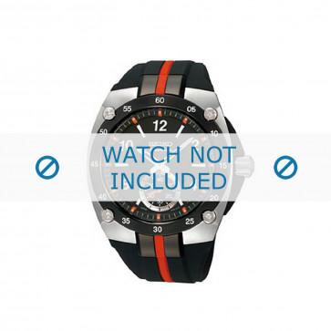 Seiko horlogeband 6G28 00P0 / SRK025P1 Rubber Zwart