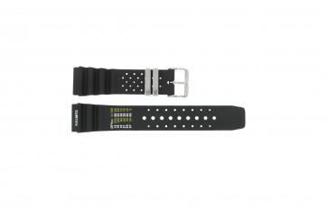 Horlogeband Universeel SIL-8136-PST-NR85 Rubber Zwart 22mm