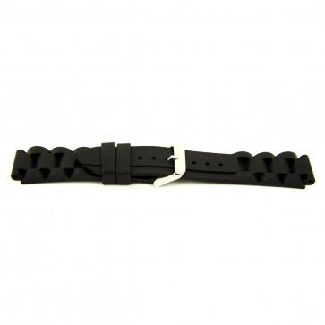Other brand horlogeband SL101 Silicoon Zwart 22mm