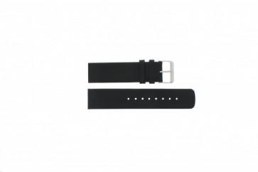 Horlogeband Skagen 224LSL / 224LSLB / 224LSLN Leder Zwart 22mm