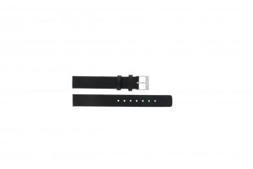 Horlogeband Skagen 355SSLW / 355SSLB Leder Zwart 14mm