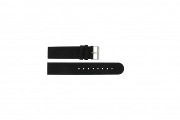 Skagen horlogeband 533LTLW / 533LTLM Leder Zwart 20mm