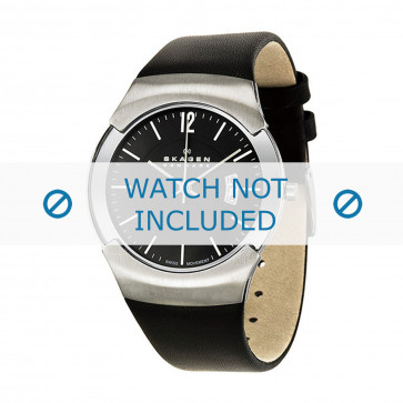 Horlogeband Skagen 981XLSLB Leder Zwart 24mm