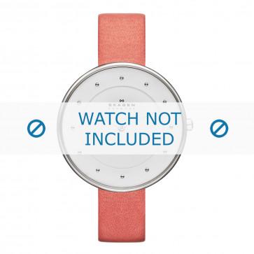 Skagen horlogeband SKW2135 Leder Roze 14mm