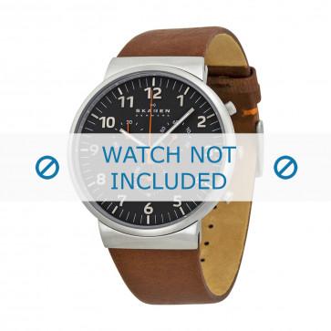 Horlogeband Skagen SKW6099 Leder Bruin 23mm