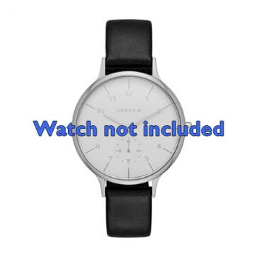 Skagen horlogeband SKW2415 Leder Zwart 14mm