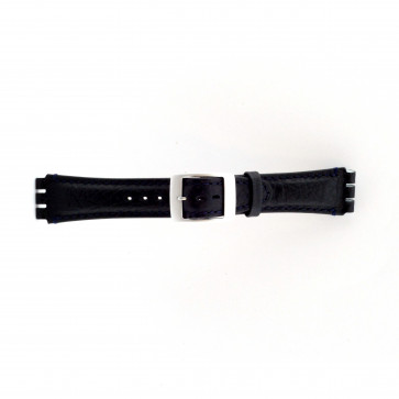 Horlogeband Swatch (alt.) SC14.05 Leder Blauw 19mm
