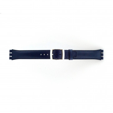 Horlogeband Swatch (alt.) 51643.06.MB Leder Blauw 19mm