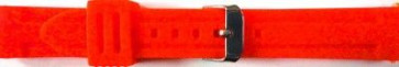 Horlogeband Universeel 253 Silicoon Rood 24mm