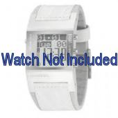 Horlogeband Diesel DZ7043 Leder Wit 24mm