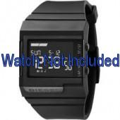 Diesel horlogeband DZ7150 Silicoon Zwart 23mm