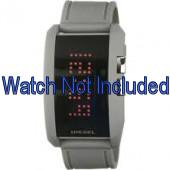 Diesel horlogeband DZ7163 Silicoon Grijs 24mm