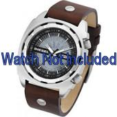 Horlogeband Diesel DZ1197 Leder Bruin 26mm