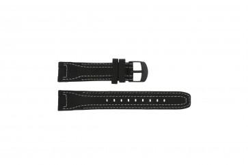 Timex horlogeband T42351 Leder Zwart 20mm