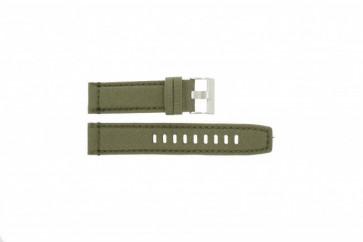 Timex horlogeband T49822 Leder Groen 22mm