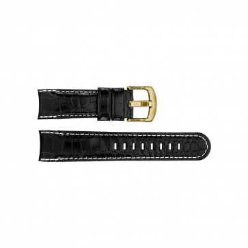 Horlogeband TW Steel TWB113 Leder Zwart 24mm
