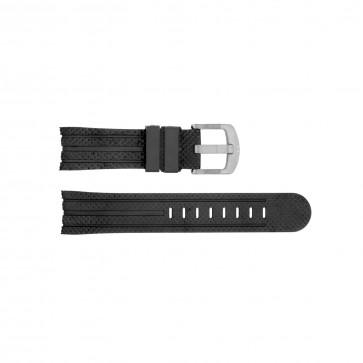 Horlogeband TW Steel TWB120L Silicoon Zwart 24mm