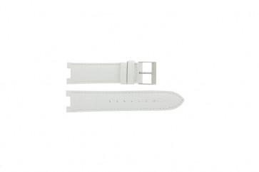 Guess horlogeband W11008L1 Leder Wit 21mm + standaard stiksel