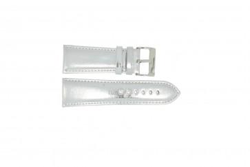 Echt leder zilveren horlogeband 26mm