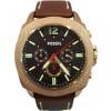 Horlogeband Fossil BQ2032 Leder Bruin 24mm