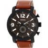 Horlogeband Fossil BQ2052 Leder Bruin 24mm
