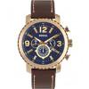 Horlogeband Fossil BQ2102 Leder Bruin 24mm