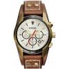 Horlogeband Fossil CH2987 Onderliggend Leder Bruin 22mm