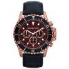 Horlogeband Michael Kors MK8258 Leder Zwart 24mm