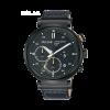 Horlogeband Pulsar PZ5071X1 / VR42-X008 / PPG045X Leder Zwart 20mm