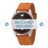 Armani horlogeband AR0526 Silicoon Oranje 23mm