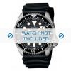 Horlogeband Seiko 7S26-0020 / SKX007K1 / 4FY8JZ / 4D41JZ Rubber Zwart 22mm