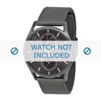 Horlogeband Skagen SKW6180 Mesh/Milanees Antracietgrijs 22mm