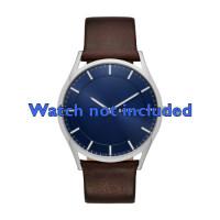 Horlogeband Skagen SKW6237 Leder Bruin 22mm