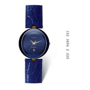 Horlogeband Rado 152.3694.2 Leder Blauw 18mm